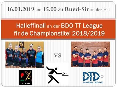 Halleffinall BDO League 2018/2019